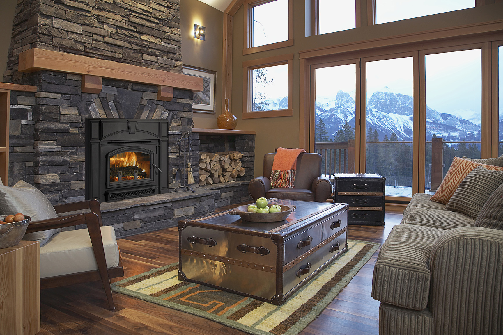 converting to a wood fireplace insert